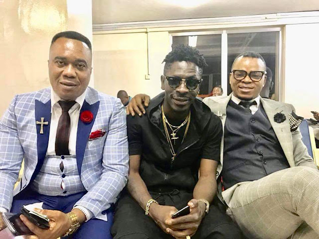 Photos: Shatta Wale finally meet Bishop Obinim, promise him and asked for his birthday gift