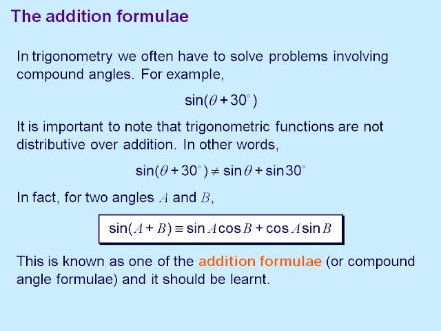 Math12: Chapter 4- Trigonometry