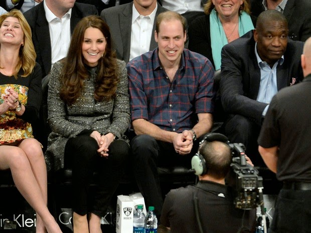 Prince William and Kate Middleton in basketball game in New York, USA