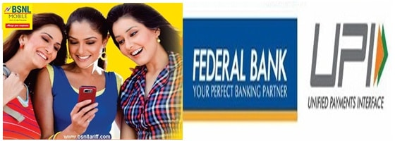 UPI based payment services with Federal bank of India