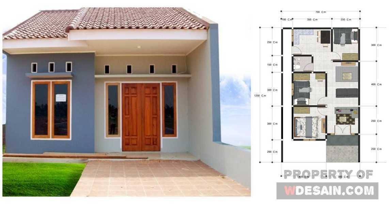 Denah Rumah Minimalis Ukuran 7x10 Kamar 3 Sederhana Desain Rumah Minimalis