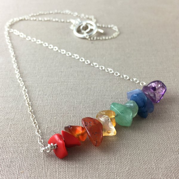 jewelry, necklace, rainbow gemstones, Arielle Rassel, Lemesto