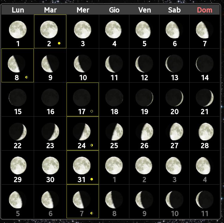 Lunar Calendar rimozione dei capelli depilatori