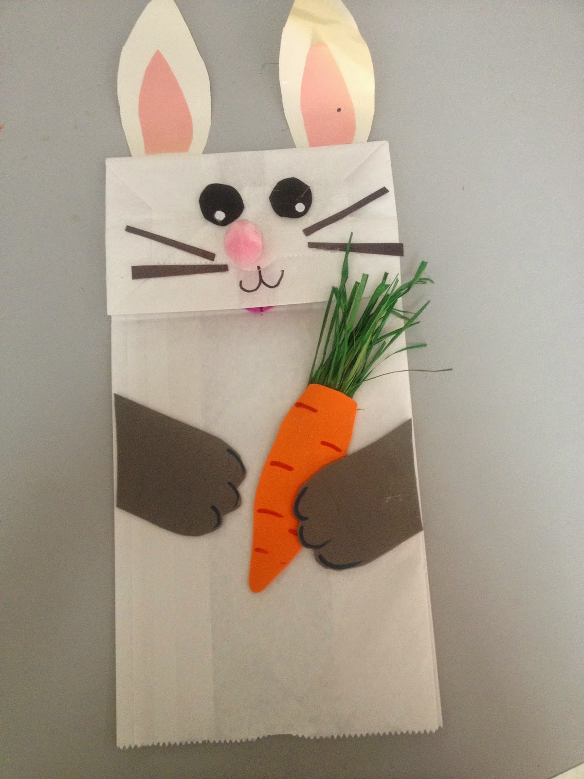 Mc School Art Easter Bunny Puppets