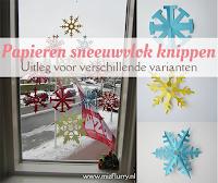 Papieren sneeuwvlok knippen - uitleg voor verschilende varianten