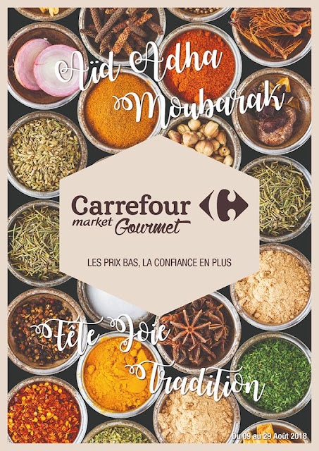 catalogue carrefour gourmet aout aid adha 2018