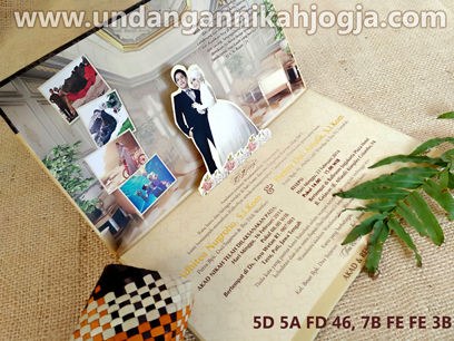 Undangan hardcover pop up