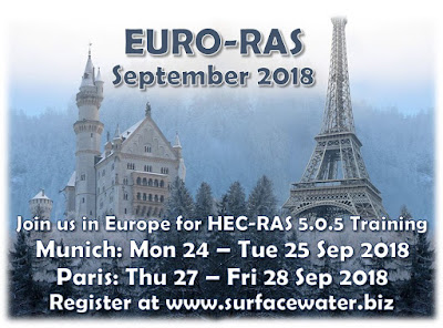 EuroRAS 2018: Upcoming courses in Munich and Paris + new HEC-RAS developments across Europe