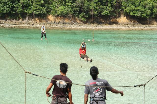 ZipLine dari Gaya ke Sapi Island
