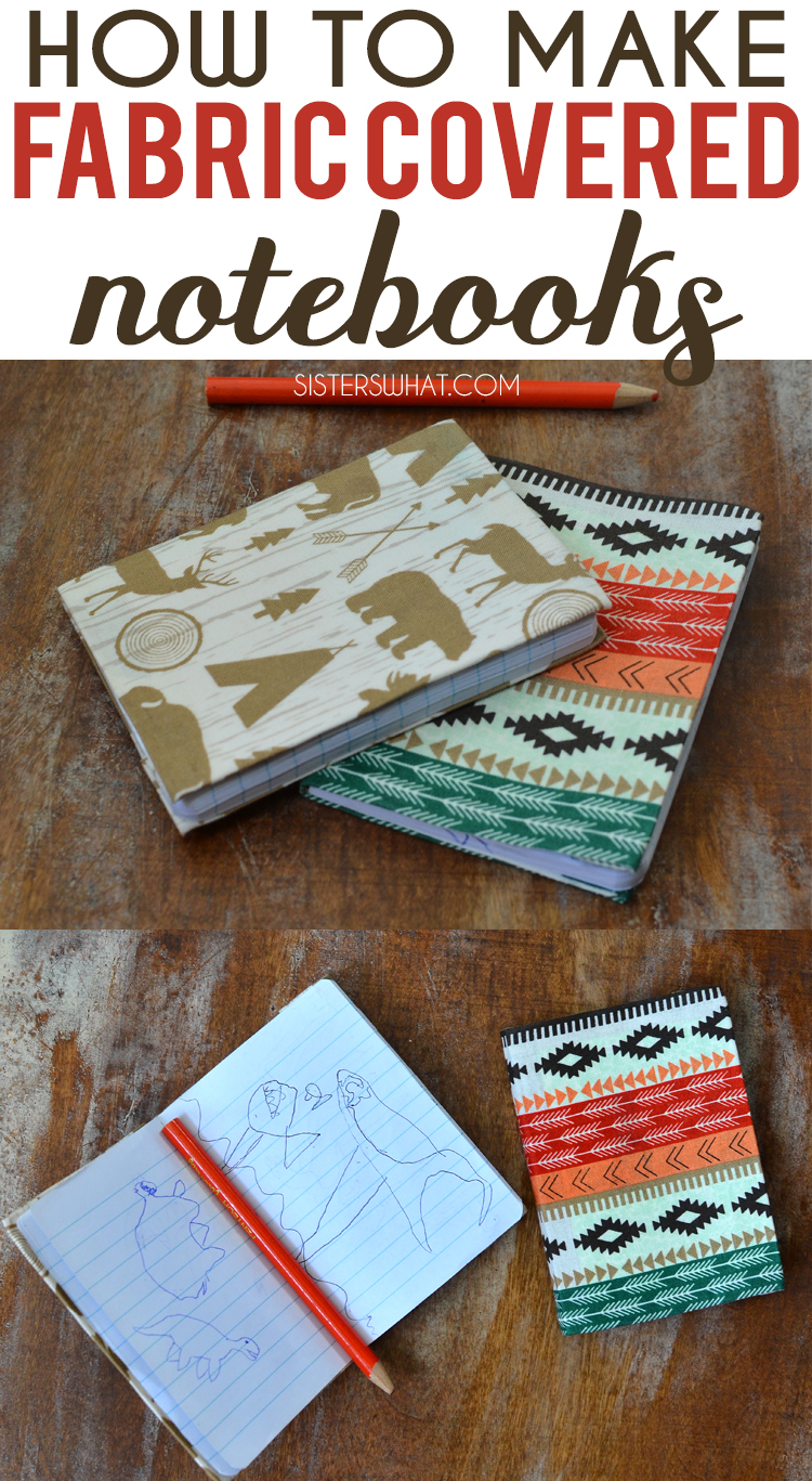 DIY how to make fabric covered notebooks using modge podge