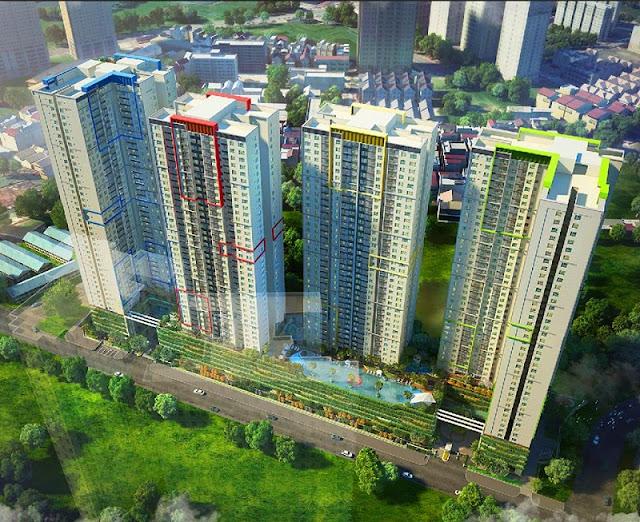 Phối cảnh toàn khu dự án Seasons Avenue Mỗ Lao