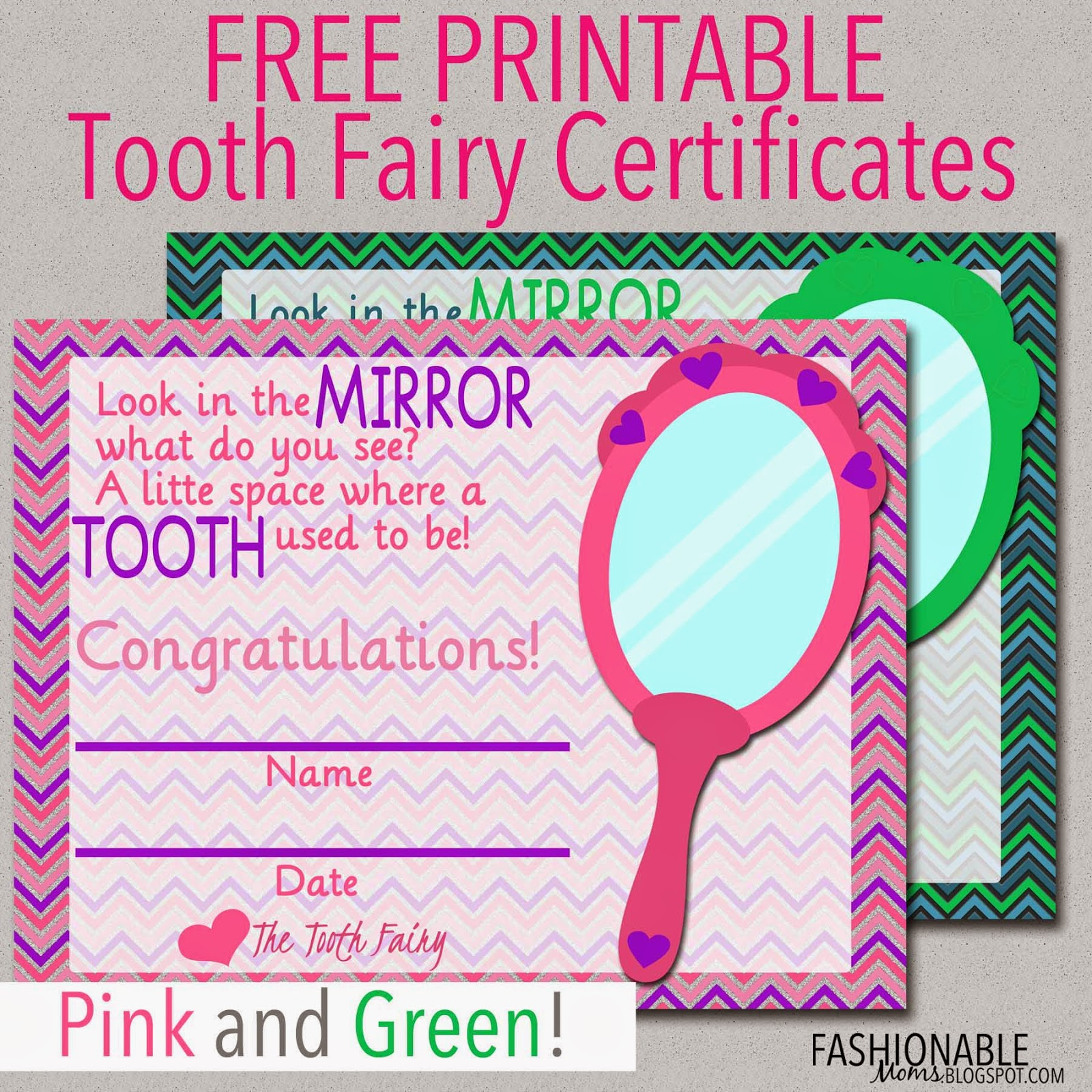 photo about Printable Tooth Fairy Certificate titled My Contemporary Styles: Free of charge Printable: Enamel Fairy Certificates