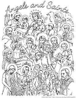 All Saints Day 2016 | Coloring Page | by CustodiansofBeauty.blogspot.com