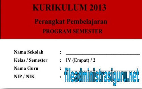 Program Semester Kelas 4 Semester 2 Kurikulum 2013 Tahun 2017/2018
