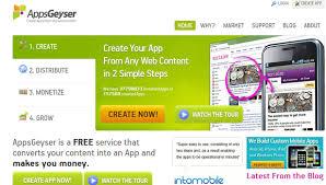 appsgeyser - membangun aplikasi android gratis