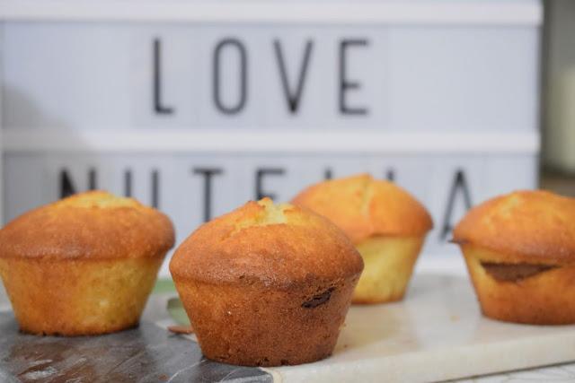 Gâteau - Muffins - Coeur au chocolat - nutella - recette - recette sucrée - gourmandise