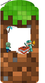 Etiqueta Gratis para Fiesta de Minecraft.