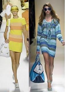 vestidos a rayas primavera verano
