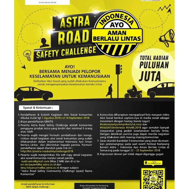 Contest Astra Road Safety Video Competition Challenge 2018