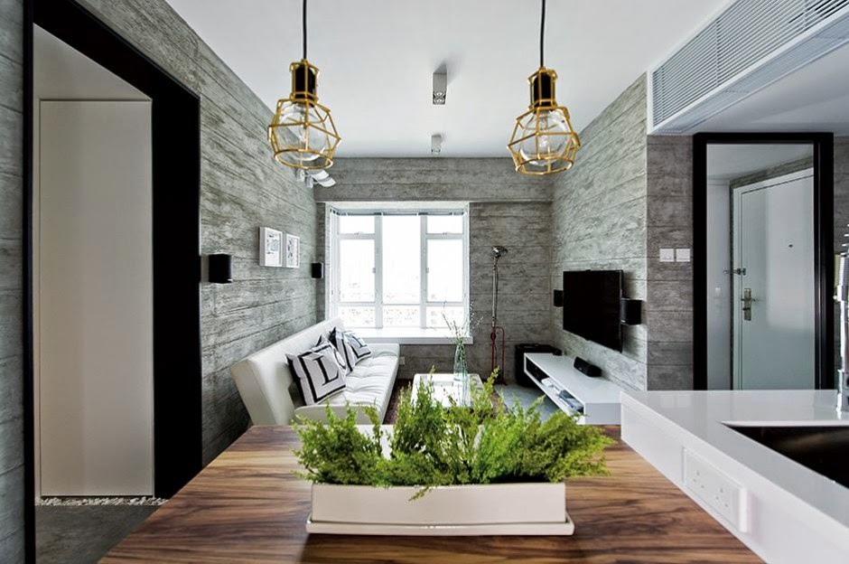 Interior de una casa moderna en gris on Interiores De Casas Modernas  id=26273