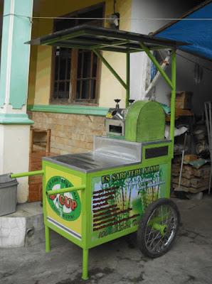 model gerobak es pisang ijo terbaru