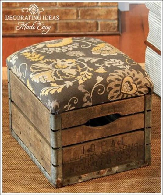 Recycler pour décorer pouf palettes bois