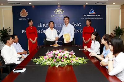 Đất Xanh ký hợp đồng phân phối dự án Lạc Hồng Lotus N01 T1