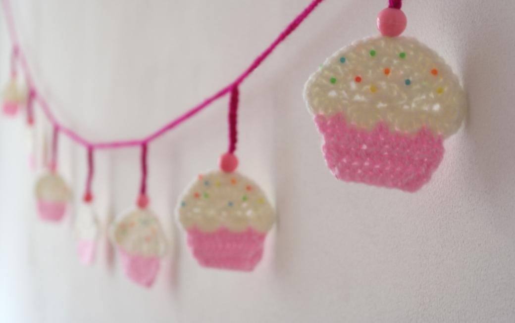 Haken Voor Kinderen Slinger Van Cupcakes