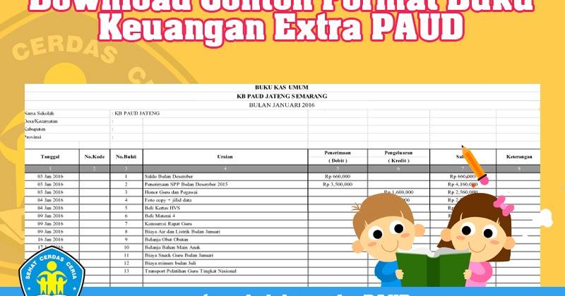 Download Contoh Format Buku Keuangan Extra Paud Operator Sekolah