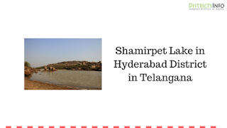 Shamirpet Lake in Hyderabad District in Telangana