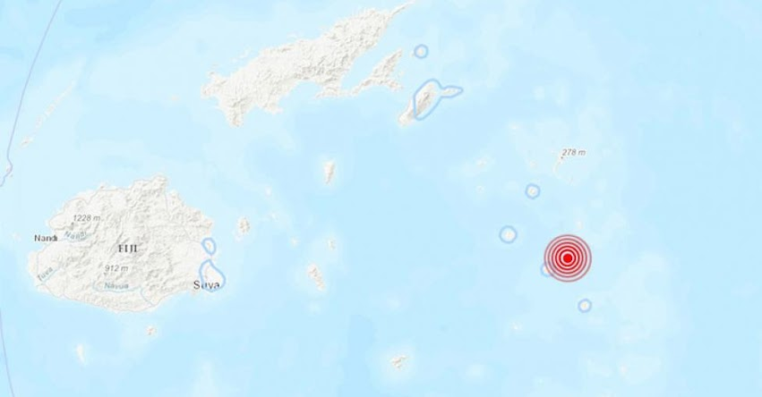 Terremoto en Fiyi de Magnitud 6.9 y Alerta de Tsunami (Hoy Domingo 18 Noviembre 2018) Sismo Temblor EPICENTRO - Fiji - Labasa - Vanua Levu - Levuka - Ovalau - USGS