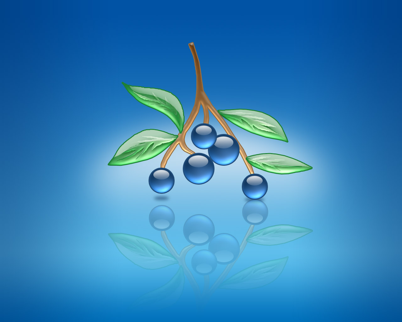 Strictly Wallpaper: Aqua Wallpapers - Blueberries