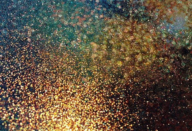 green gold glitter texture