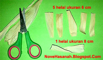 cara membuat kerajinan tangan prakarya dari sampah limbah kulit jagung yang berbentuk bunga cempaka
