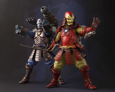 Marvel Koutetsu Samurai War Machine Meisho Manga Realization Action Figure