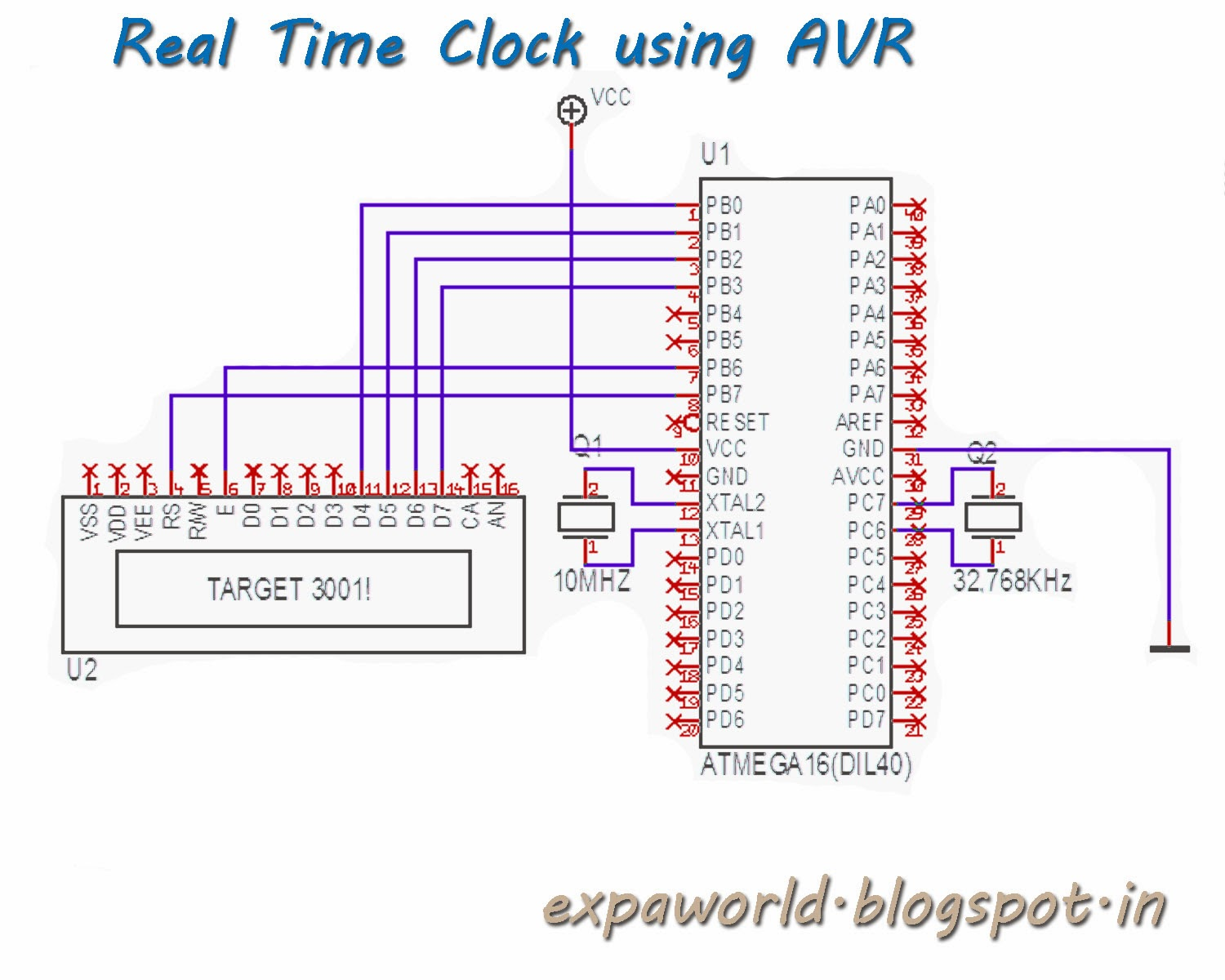 WORLD OF EMBEDDED: Real Time Clock Using AVR