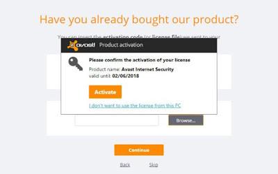 free license key for avast free antivirus 2018