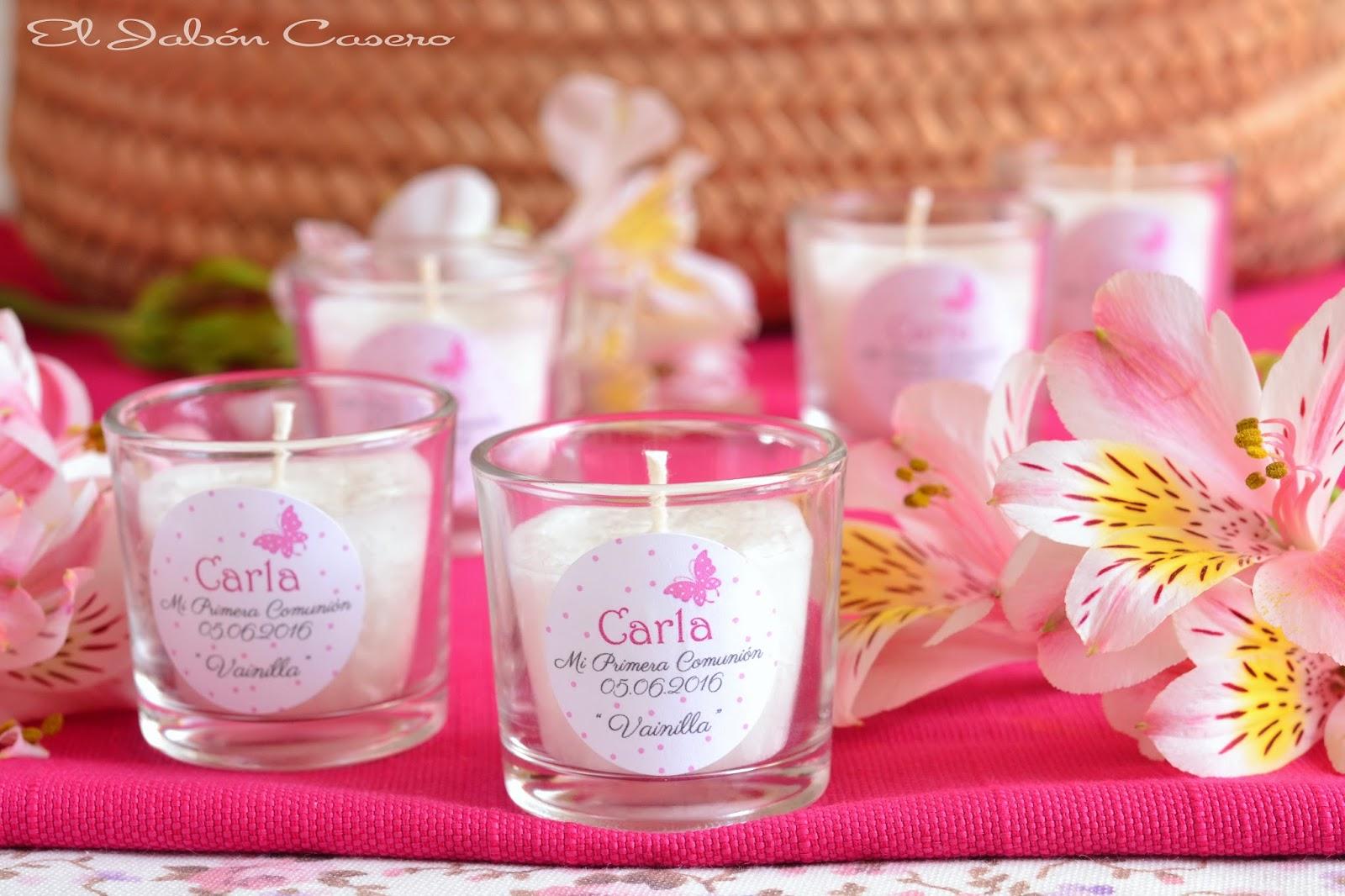 velas aromaticas detalles de bautizo
