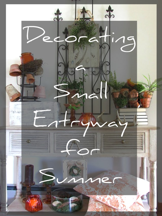Decorating the Entryway for Summer - Rustic & Refined