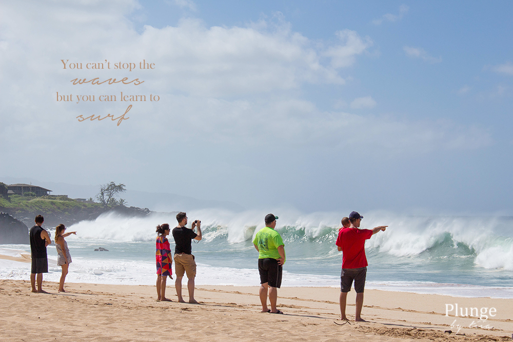 Big waves in Waimea Bay