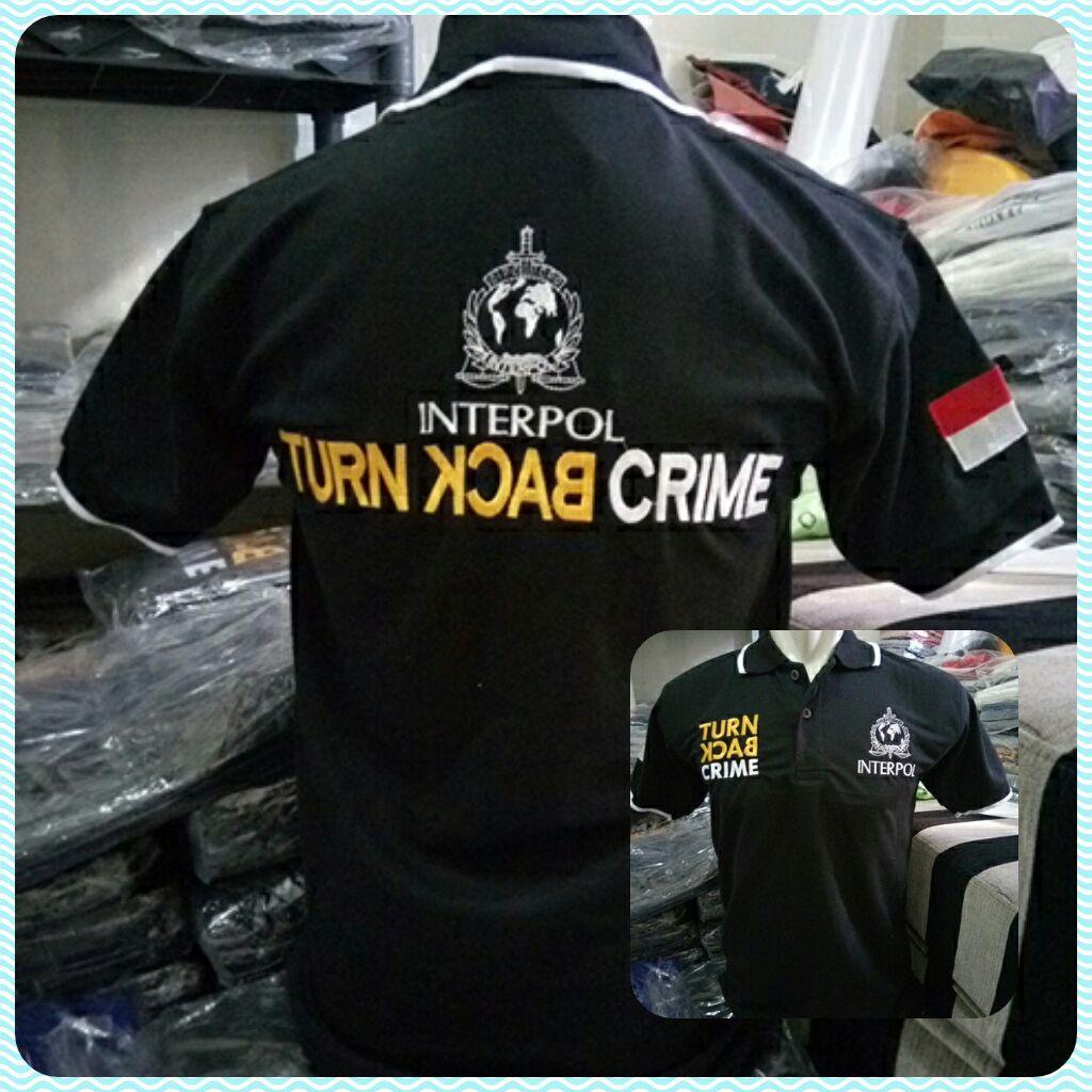 Rendysadewa Kaos Polisi Turn Back Crime Warna Hitam Interpol Tcash Juli Celana Jeans Strech Panjang Pria Model Slimfit