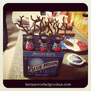 beer reindeer gift idea