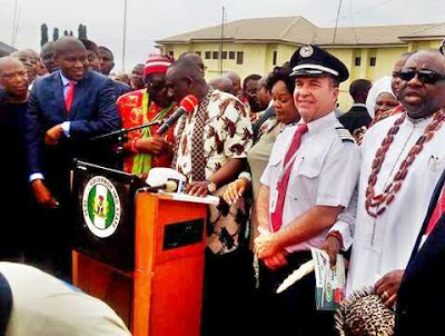 Imo State Becomes the First State to Have Its Own Airline as Gov. Okorocha Takes Delivery of New Jet (Photos)