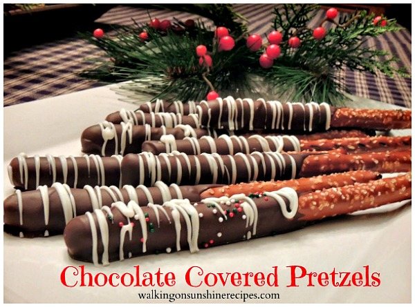 Chocolate Covered Pretzels from Walking on Sunshine.