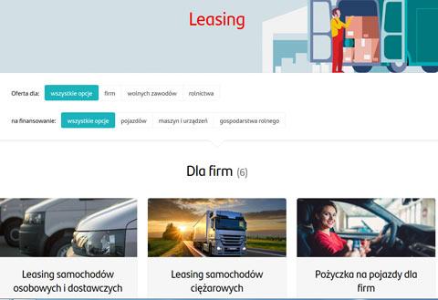 Santander Leasing samochodowy ze strony