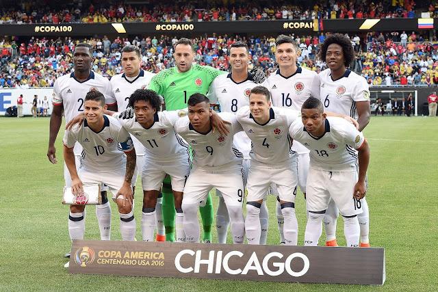 Formación de Colombia ante Chile, Copa América Centenario, 22 de junio de 2016