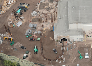 Brown Track Spotted at Harry Potter Coaster for Universal Studios