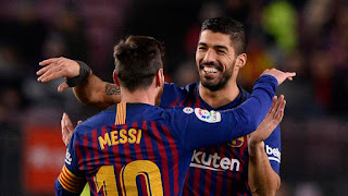 Luis Suarez helped Barcelona earn a troublesome 3-1 win over Leganes on Sunday night at the Camp Nou in Barcelona.