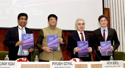 Piyush Goyal launches the IEA's 'The Future of Rail' report