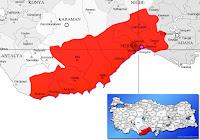 Mersin Yenişehir ilçesinin nerede olduğunu gösteren harita